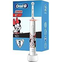 Oral-B Junior Minnie Mouse Elektrische tandenborstel voor kinderen vanaf 6 jaar, 360°-drukcontrole, zachte borstelharen…