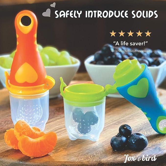Amazon.com: Fox and Bird - Chupete alimentador de frutas ...