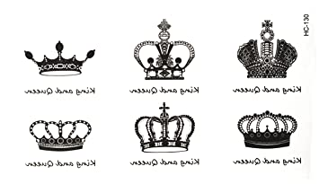 3d Temporary Tattoo Crown Design Size 10 5x6cm 1pc Amazon In Beauty