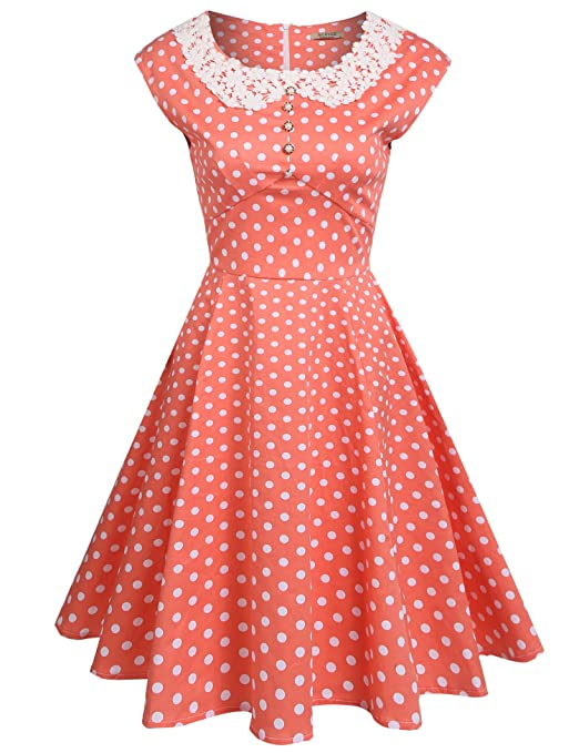 What Did Women Wear in the 1950s?  Audrey Hepburn Style 1940s Rockabilly Evening Dress $36.99 AT vintagedancer.com