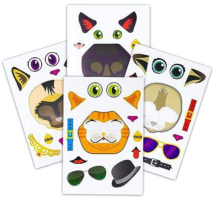 Amazon.com: 24 pegatinas para hacer un gato – Crea tu propio ...