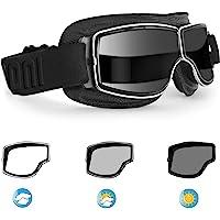 Bertoni Gafas de Moto Lentes Fotocromaticas - Gafas