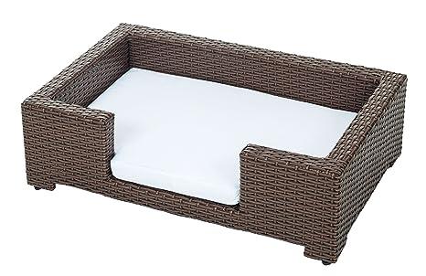 Cesto para animales de ráfia, medidas L 90x57x26cm, cama para perros, sofa para
