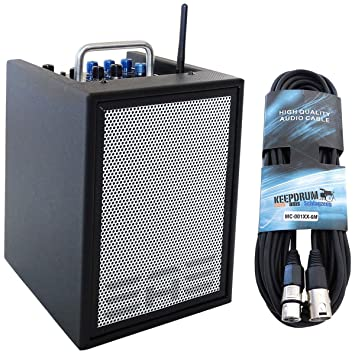 Elite Acoustics A1 – 4 CFB amplificadores de guitarra de 3 canales Mini PA Box batería