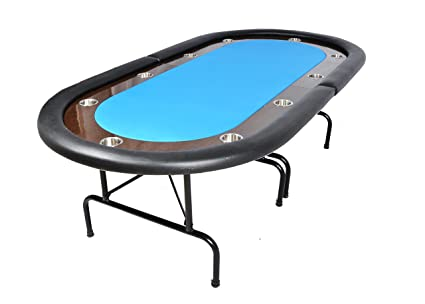 The Oval Ultimate Folding Poker Table   Blue