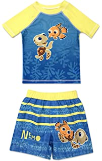 e419e99844 Amazon.com: Disney Finding Nemo Dory Boys Swim Trunks and Rash Guard ...
