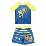 Infant Boy Finding Nemo 2 Piece Rash Guard Rashguard Swim Shirt and Swim Trunk Set 12 Months