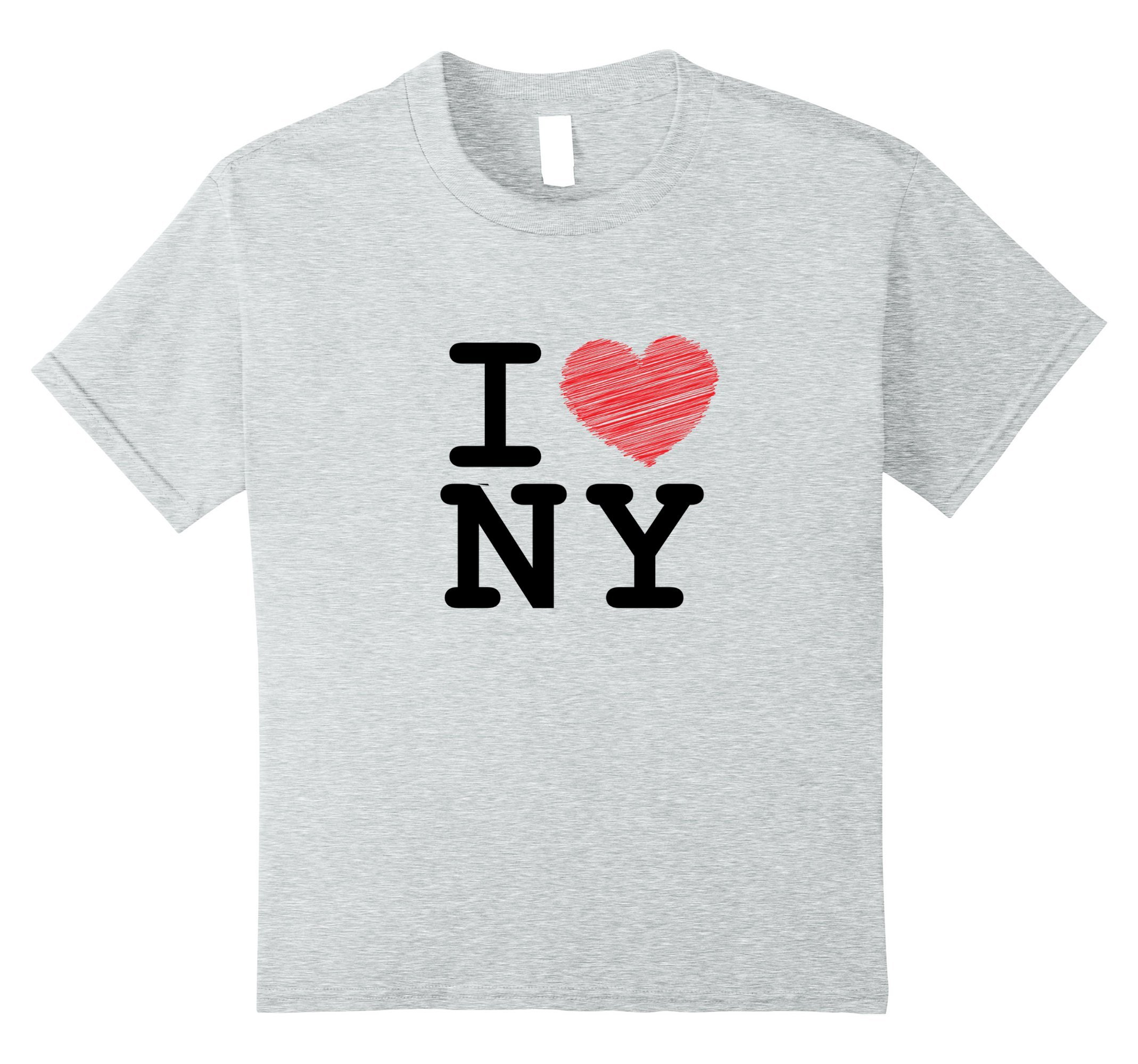 Kids I love Newyork, T-shirt, Sleeveless, NY, Heart 12 Heather Grey