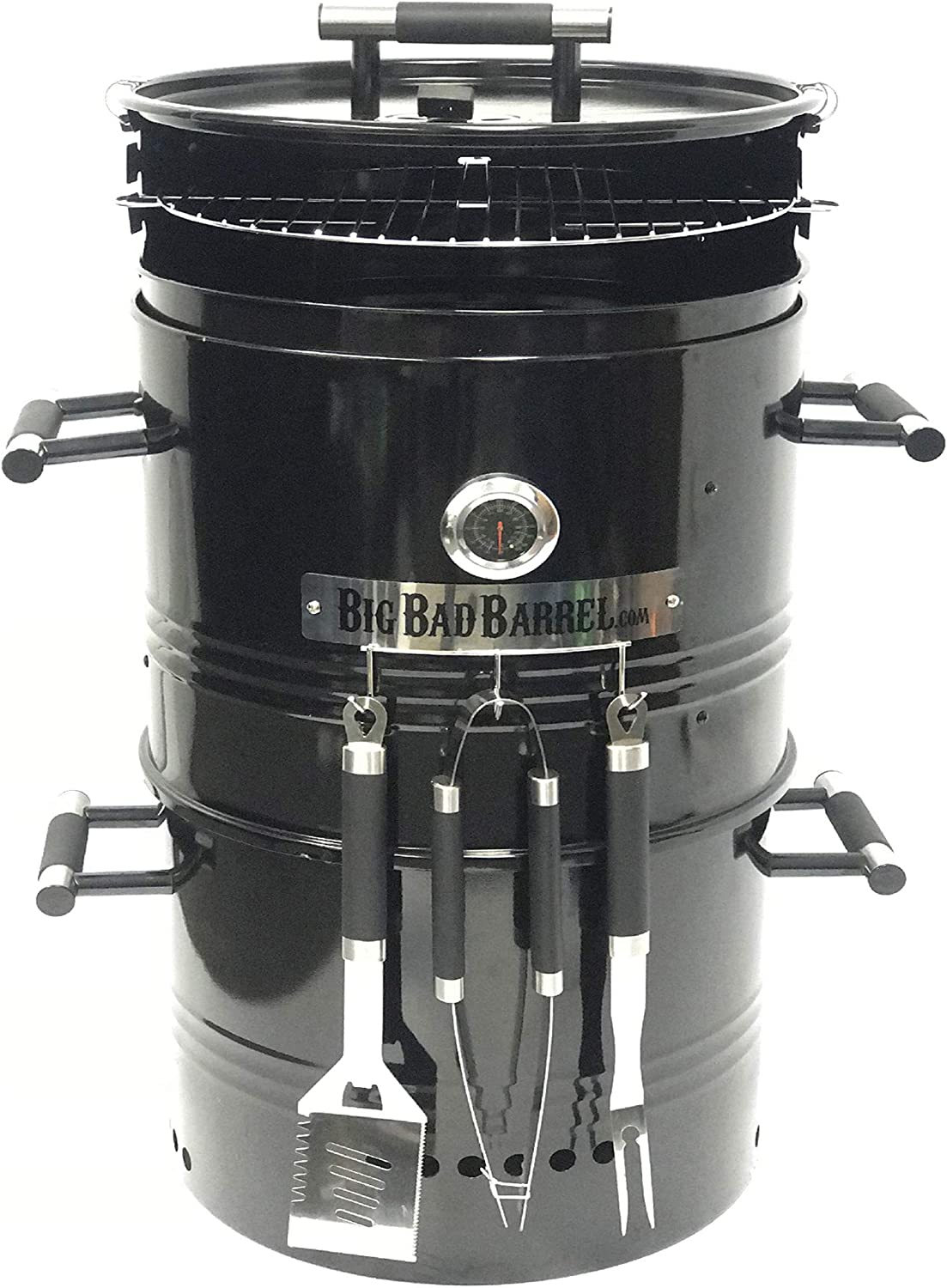 EasyGoProducts Big Bad Barrel Pit Charcoal Barbeque 5 in 1 review