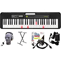 Casio LK-S250 61-Key Premium Lighted Keyboard Pack with Headphones, Stand, Power Supply, 6-Foot USB Cable and eMedia…