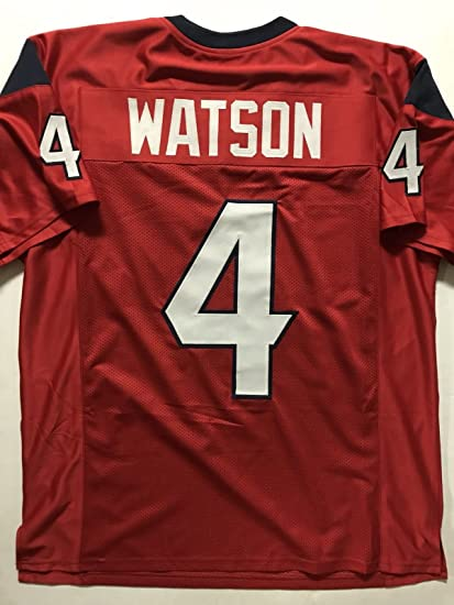 35dfc15fc71 Unsigned Deshaun Watson Houston Red Custom Stitched Football Jersey Size XL  New No Brands/Logos