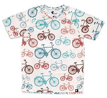 Camiseta Running Hombre, Manga Corta, Gimnasio #Bike: Amazon.es: Deportes y aire libre