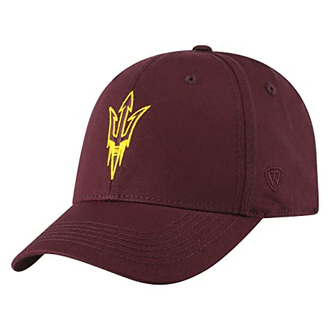 info for 94757 ce81a NCAA Arizona State Sun Devils Men s Fitted Relaxed Fit Team Icon Hat, Dark  Maroon