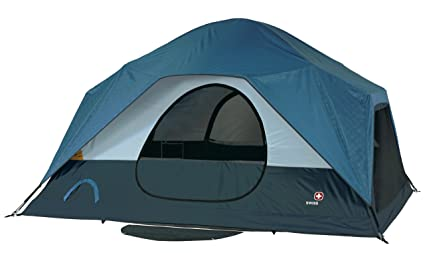 Image Unavailable  sc 1 st  Amazon.com & Amazon.com : Swiss Gear Falera Family Dome Tent (Blue/Grey) : Sports ...