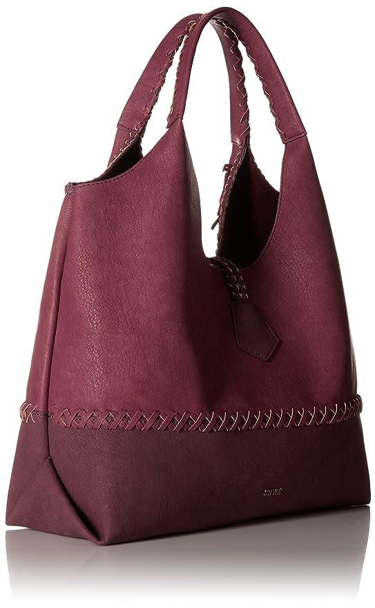 9271b5c2766 STEVEN by Steve Madden Khloe Shoulder Handbag, Berry: Handbags: Amazon.com