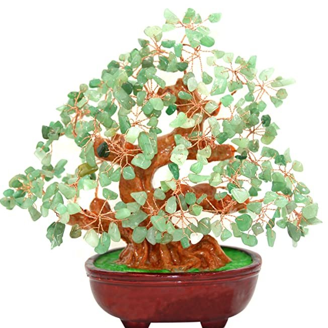 9 Inch Feng Shui Natural Green Aventurine Gem Stone Money Tree