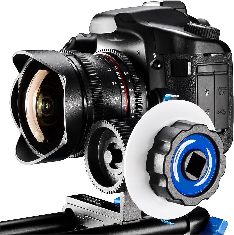 SunSmart Pro DSLR 15mm rod support system Follow Focus With Gear Ring Belt for DSLR cameras