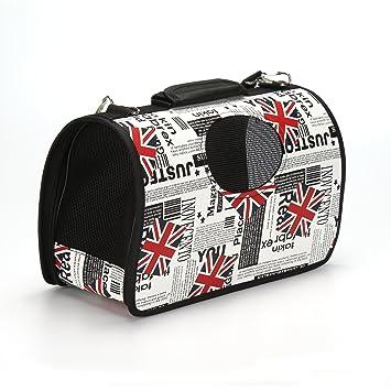 Hoopet - Transportín tipo mochila / bolso para perros y gatos pequeños, jaula de viaje plegable: Amazon.es: Productos para mascotas