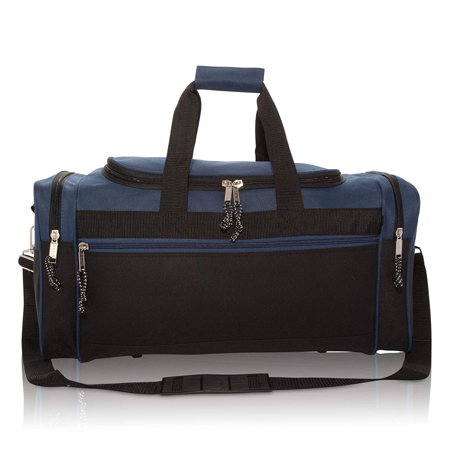 DALIX 19 Blank Sports Duffle Bag Gym Bag Travel with Adjustable Strap in Gray