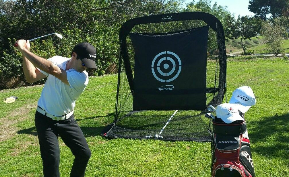 Spornia SPG-5 Golf Practice Net- Automatic Ball Return System with Target sheet, Two Side Barrier, and Chipping Target by Spornia (Image #5)