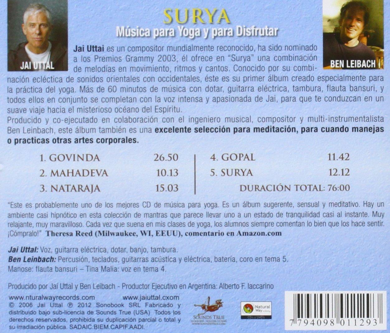 UTTAL / LEIBACH - UTTAL / LEIBACH SURYA - MUSICA PARA YOGA Y DISFRUTAR - Amazon.com Music