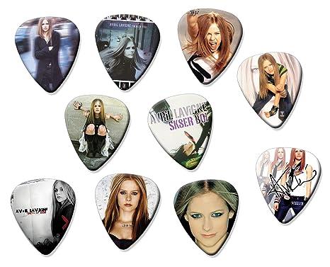 Avril Lavigne Classic Set de 10 púas de guitarra eléctrica o acústica
