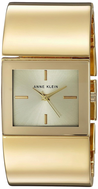 Amazon.com: Anne Klein Womens Quartz Metal and Alloy Dress Watch, Color:Gold-Toned (Model: AK/2648CHGB): Watches