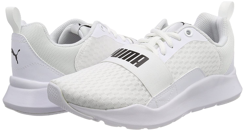 bon marché dernier style de 2019 bon ajustement Puma Men's White Sneakers-7 UK/India (40.5 EU) (36697002)