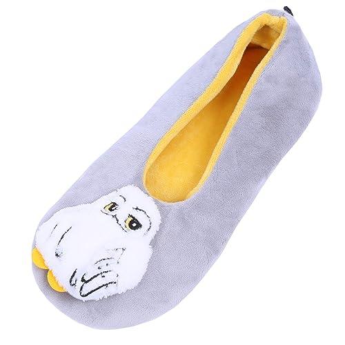Zapatillas de casa Gris-Amarillas del búho Harry Potter - 39-42 / UK 6-8: Amazon.es: Zapatos y complementos