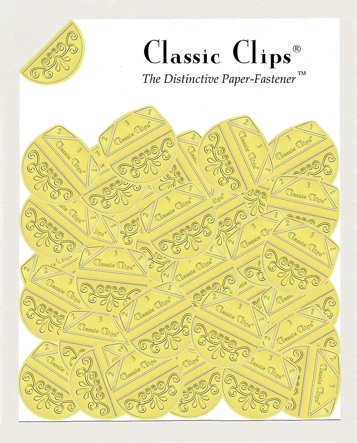 Pack of 100 Classic Clips/® Paper Fasteners Tuscany Gold