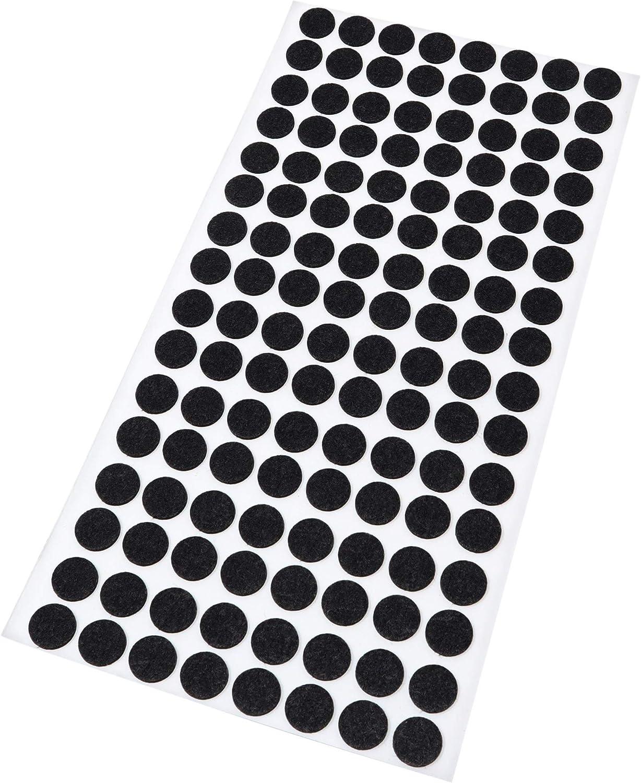 Schwarz /Ø 12 mm 128 x Filzgleiter rund 1.5 mm d/ünne selbstklebende Filz-M/öbelgleiter in Top-Qualit/ät Adsamm/®