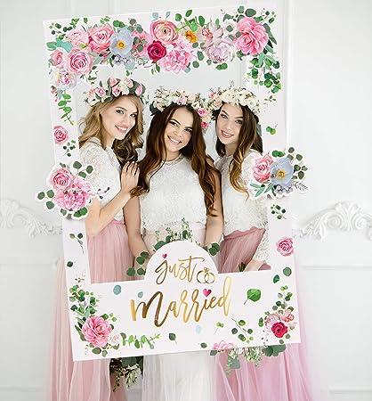 Sayala Photobooth Mariage Diy Accessoire Kit Brillants Or Rose Team Bride Accessoire Photobooth Frame Masquerade Pour Decoration Mariage Enterrement