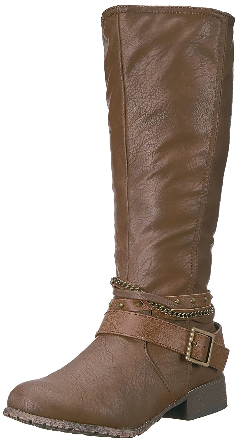 Jellypop Women's Nastia Engineer Boot B06WGSH8MX 7 B(M) US|Darkbrown Distress Small