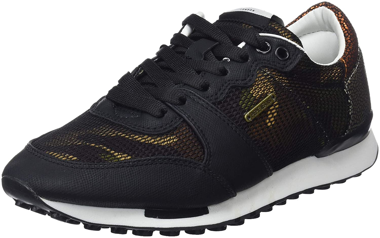Pepe Jeans Damen Bimba 999) Camouflage Sneaker, Schwarz (schwarz 999) Bimba 0eeac1