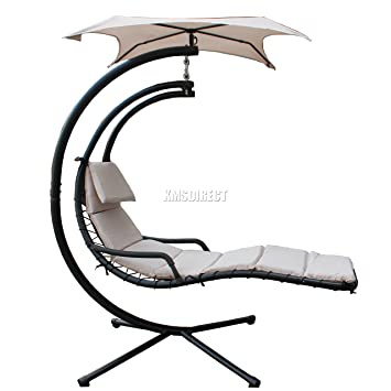 foxhunter garden swing swinging hammock helicopter hanging dream chair sun lounger seat with cushion beige new foxhunter garden swing swinging hammock helicopter hanging dream      rh   amazon co uk