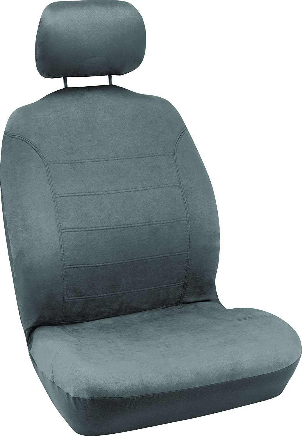 Bell Automotive 22-1-56229-8 Gray Micro Suede Low-Back Bucket Seat Cover