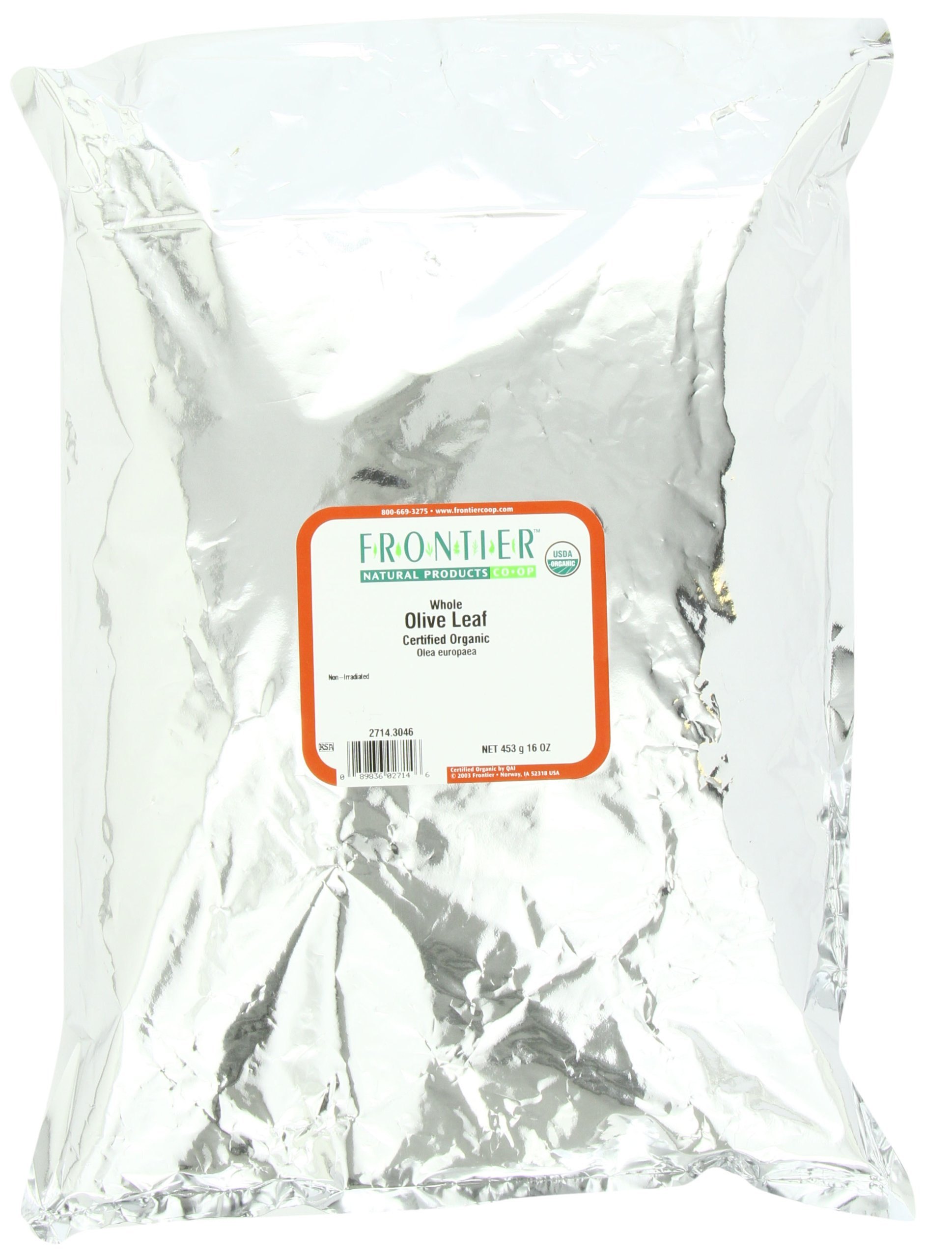 Frontier Spices, Whole Olive Leaf, 16 Ounce