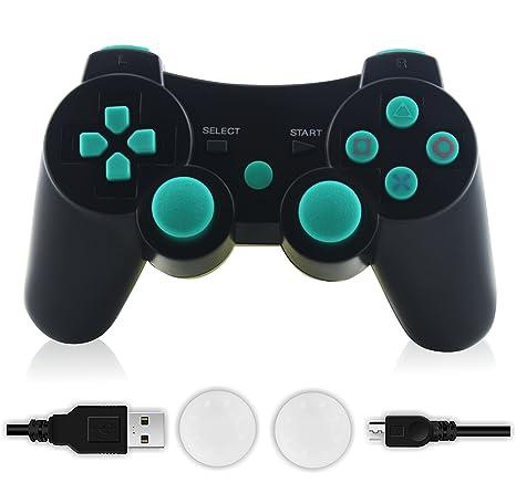 amazon com ps3 controller tonsum wireless bluetooth double rh amazon com sony playstation 3 bd remote control manual sony playstation 3 remote control setup