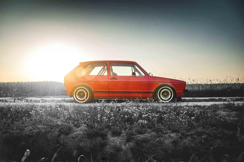 Amazon.de: VOLKSWAGEN GOLF MK1 76, 2 x 50, 8 cm Leinwand, VW ...