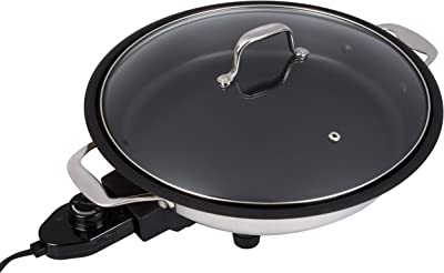 CucinaPro 18/10 Stainless-Steel Electric Skillet
