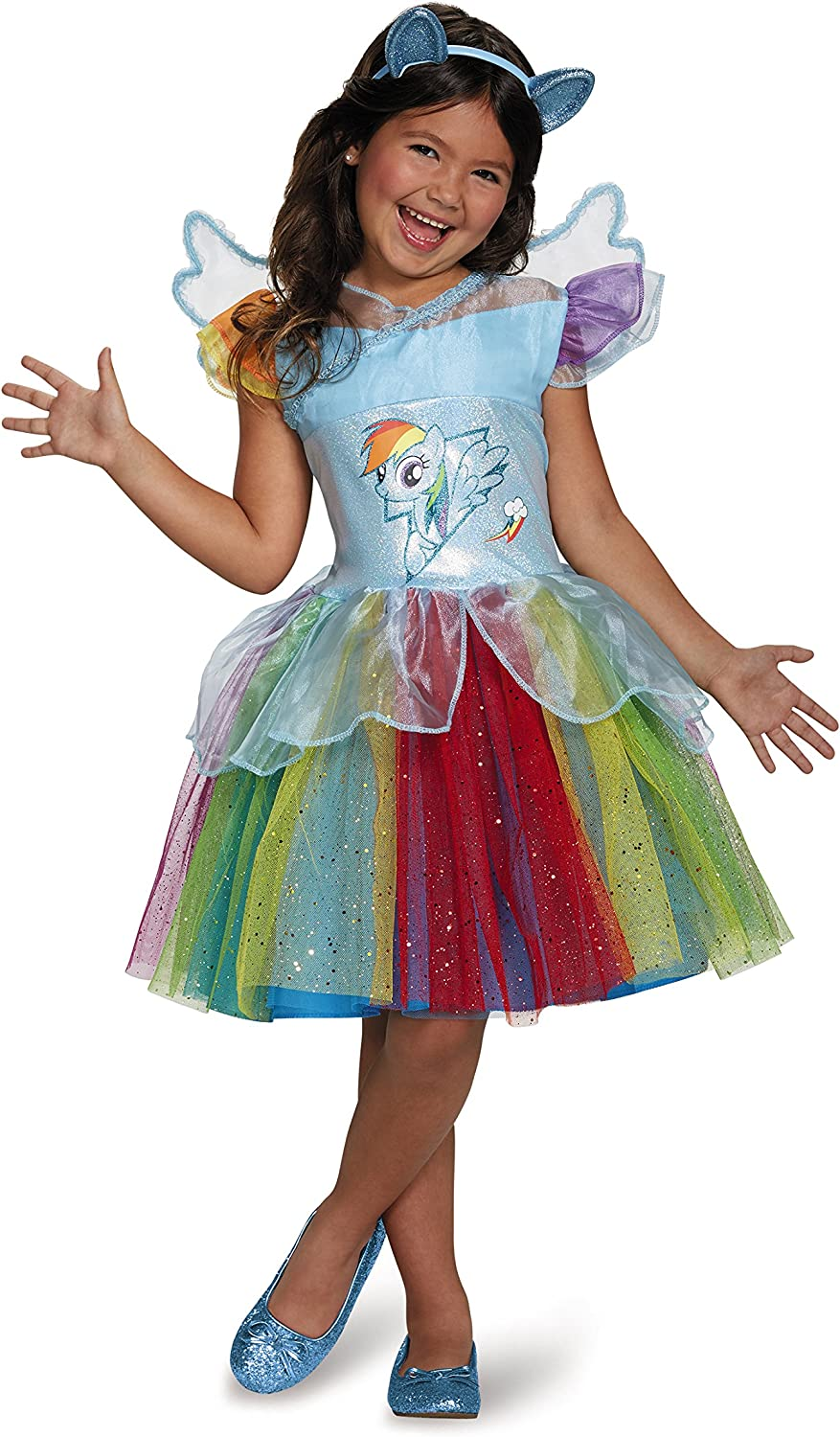 Rainbow Dash Tutu Deluxe My Little Pony Costume, Small/4-6X