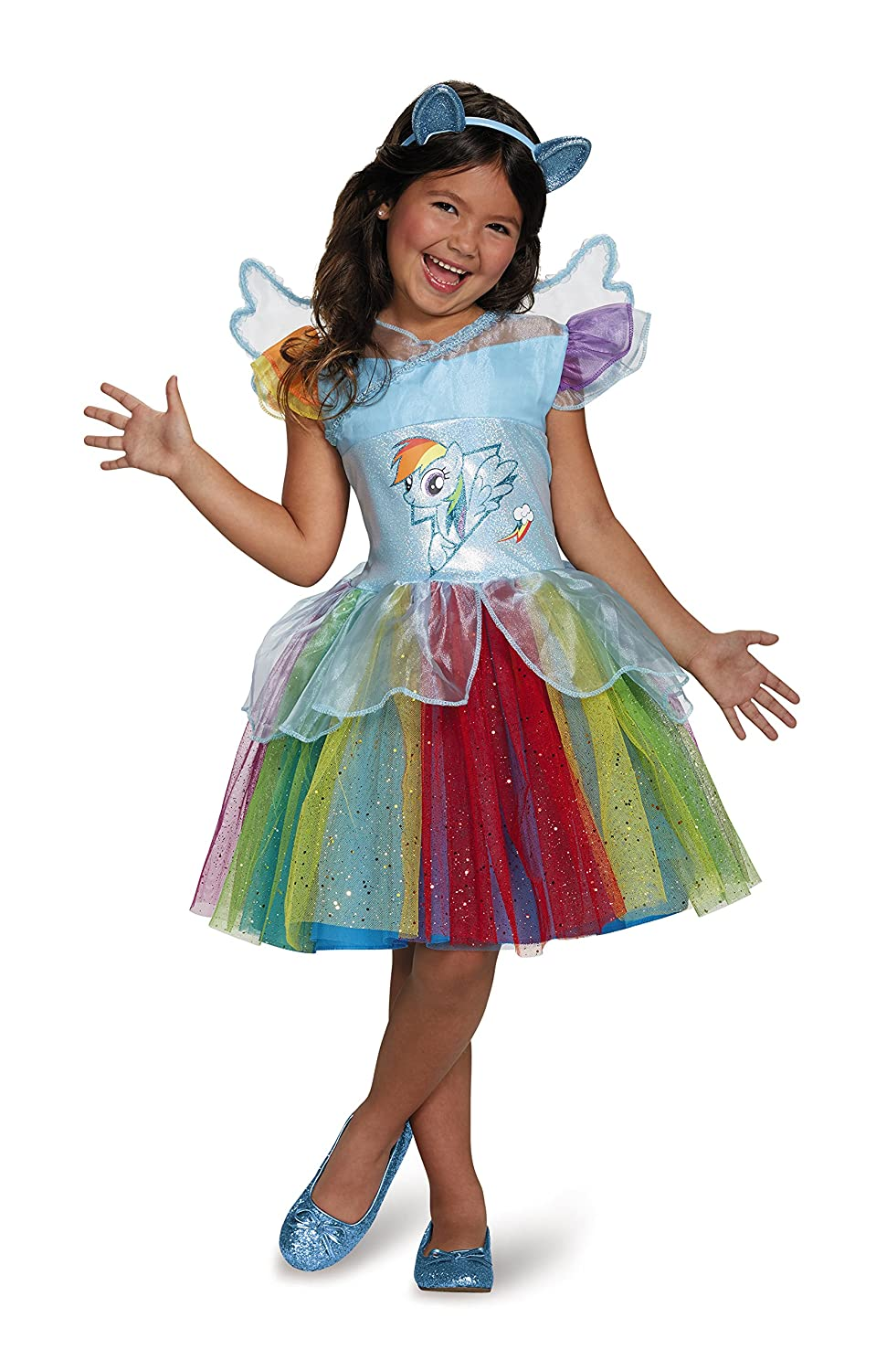Disguise Costumes Rainbow Dash Tutu Deluxe My Little Pony Costume, Medium/7-8 97345K