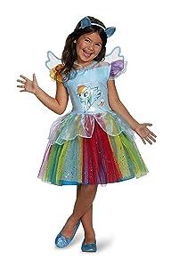 Rainbow Dash Tutu Deluxe My Little Pony Costume, X-Small/3T-4T