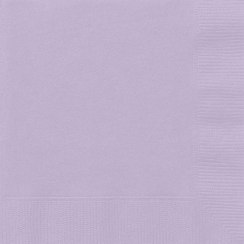 Unique Party 31363 - Tovaglioli di Carta, Confezione da 50, 16,5 cm, Lavanda