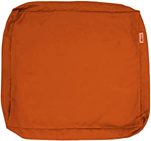 """QQbed 6 Pack Outdoor Patio Chair Washable Cushion Pillow Seat Covers Extra Large 24""""X22""""X4"""" - Replacement Covers Only (24""""X22""""X4"""" 6 Pack, Rust)"""