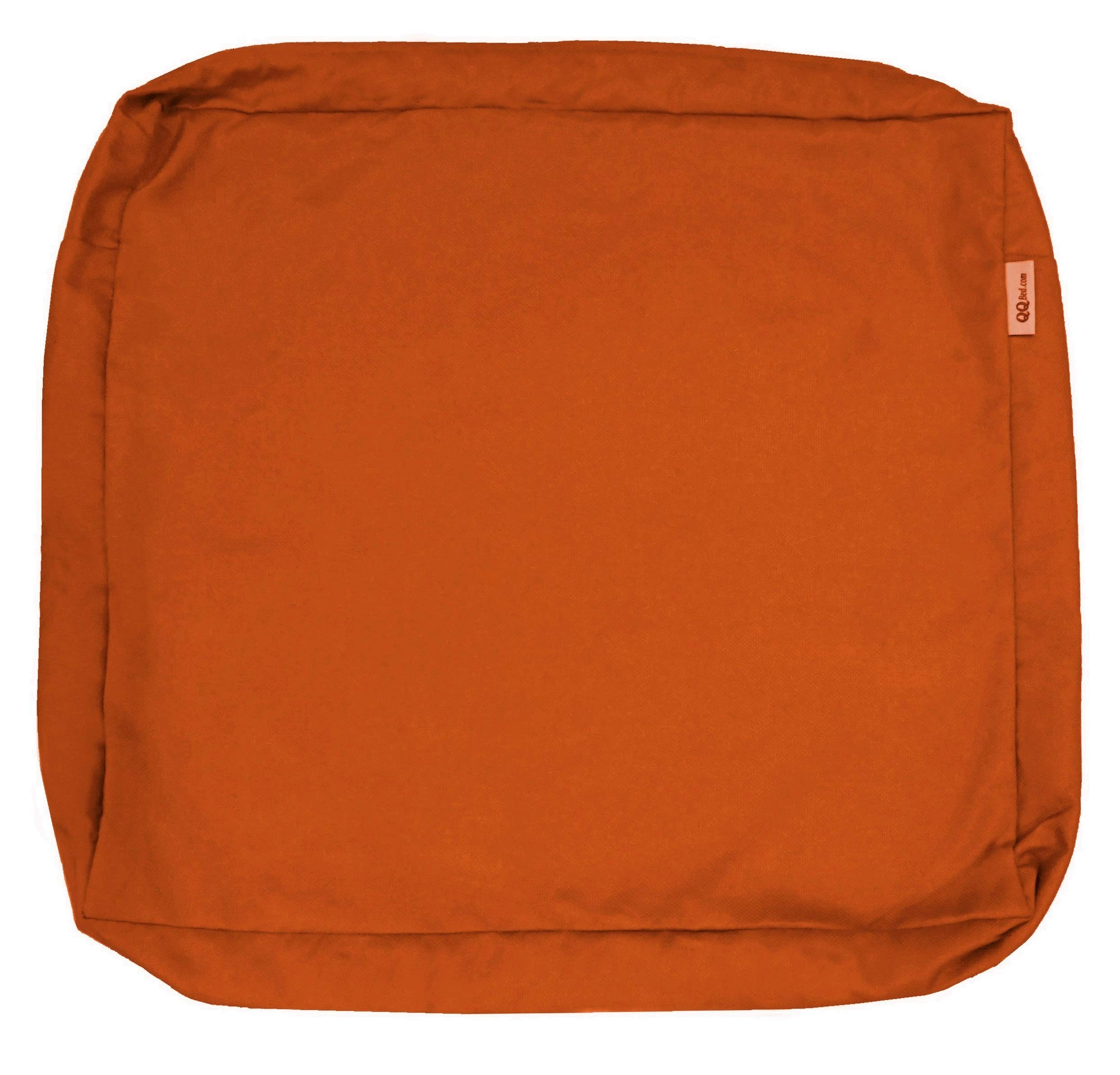QQbed Outdoor Patio Chair Washable Cushion Pillow Seat Covers Extra Large 24''X22''X4'' - Replacement Covers Only (24''X22''X4'' 6 Pack, Rust)
