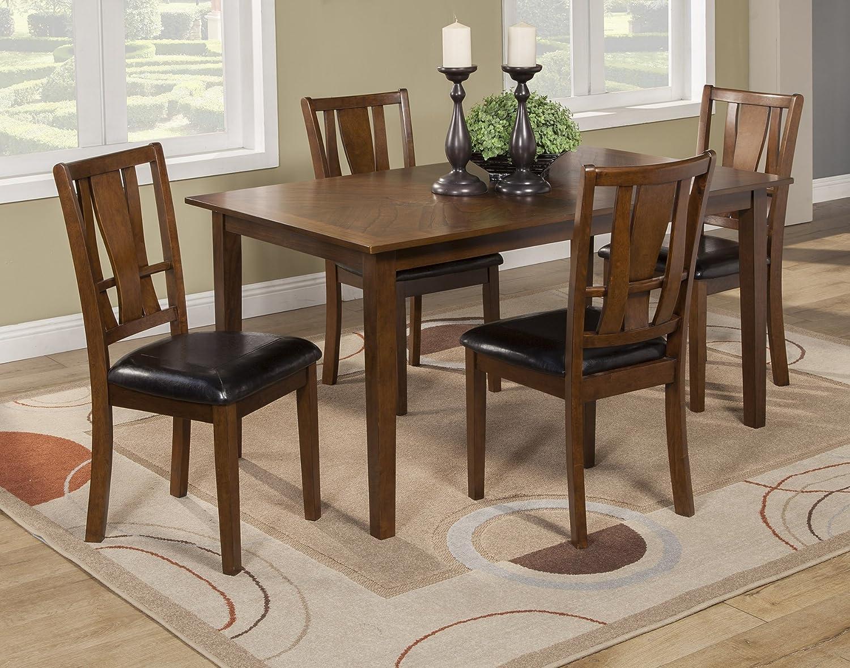 Alpine Furniture Del Rey 5 Piece Dining Set, Brown
