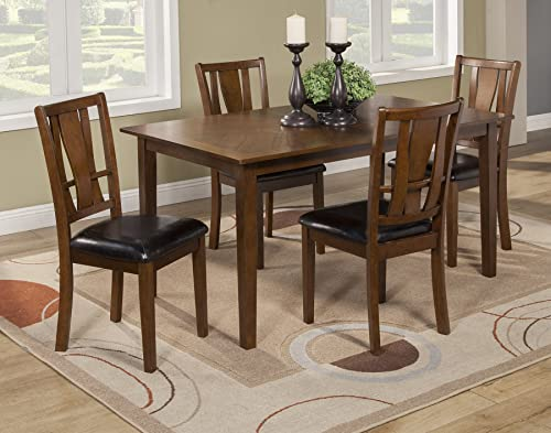 Alpine Furniture Del Rey 5 Piece Dining Set, Brown