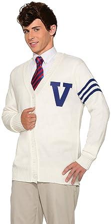 534559db18aa3 Amazon.com: Forum Novelties Men's 50's Varsity Sweater Xl, White, X ...