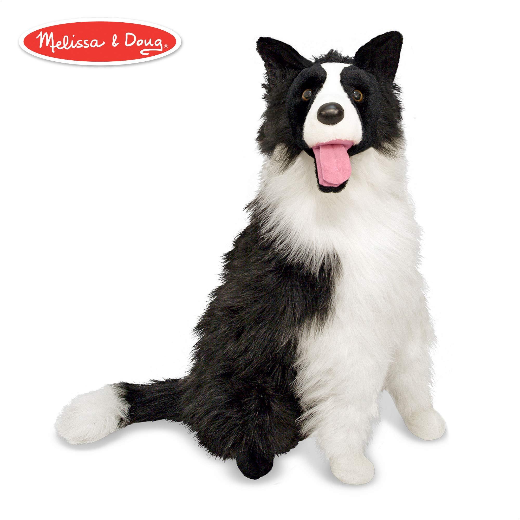 Melissa & Doug Border Collie Dog Giant Stuffed Animal (Lifelike Plush, 27'' H x 22'' W x 14'' L) by Melissa & Doug